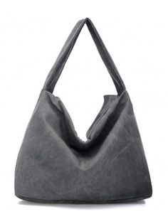 Canvas Zippered Nail Belted Fold Over Bag
