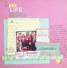 Best of Both Worlds May Kit scrapbook page by shimelle laine @ shimelle.com