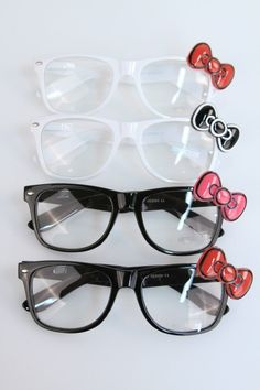 f5ee3f660 Hello Kitty Glasses Wayfarer Black or White by ThreeBirdNest, $19.50 Hello  Kitty Accessories, Hello