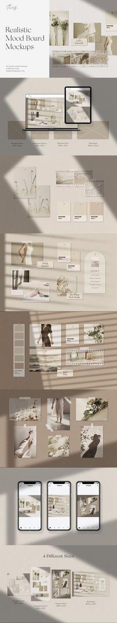 Realistic Mood Board Mockups PSD #instagramquotes #mockup #moodboardtemplate #editable #notepade #moodwall #customize #highresolution #minimal #instagramtemplate #autumn #pinterest #instagramstories #pinterestpins #text #wallframemockup #presentation #paper #template Mood Board Creator, Instagram Mockup, Mockup Templates, Artist At Work, Frames On Wall, Lightroom, Minimalism, Floor Plans, Modern