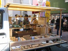 スギダラ北部九州の画像 Cafe Shop Design, Store Design, Diy Interior, Shop Interior Design, Brunch Cafe, Mini Store, Market Stands, Exhibition Stall, Mobile Shop