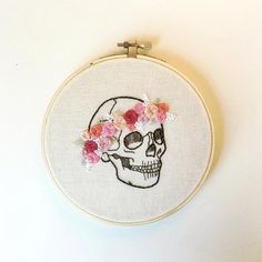 Hey, I found this really awesome Etsy listing at https://www.etsy.com/listing/454277854/flower-crown-skull-handmade-embroidery