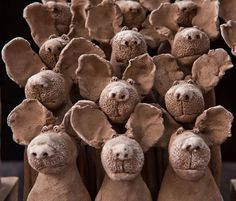 Sculptures Céramiques, Sculpture Clay, Sculpture Ideas, Play Clay, Ceramic Figures, Ceramic Animals, Art Plastique, Sculpting, Illustration Art
