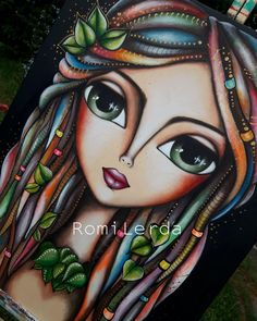 """""""ForestWoman"""" 🌿🌳☘ serie """"Dreadlocks"""" ☮🧘♀️🌙 acrílico 90 x 70 🔅 . Painting Corner, Doll Painting, Art Pop, Abstract Face Art, Mandala Painting, Mixed Media Canvas, Whimsical Art, Cute Art, Art Pictures"""