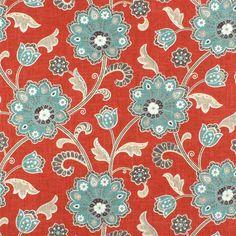 Braemore Ankara Scarlet Fabric