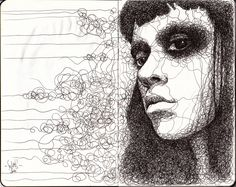 copyright JC Graciano - Moleskin sketch - I love this mans sketches