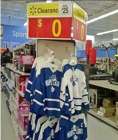 Leafs Jersey's On Clearence - Funny Picture