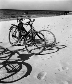 Herbert List :: Bicycles, Baltic Sea, 1930 more [+] by this photographer