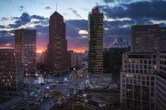 Berlin - Times Square Panorama Sunset