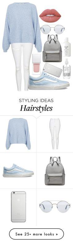 trui, gescheurde broek, vans, zonnebril, lipgloss, rugzak, bodylotion