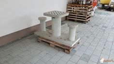 Betonnen Schaaktafel gepolijst bij KOLB Garten- und Landschaftsbau in Nürnberg