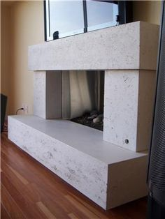 Concrete fireplace surround | My Concrete | Pinterest | Concrete ...