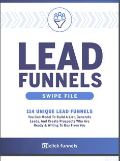 Lead Funnels Swipe File is a compilation of 114 of the highest performing lead generating funnels across all niches you can swipe and model to attract unlimited leads for your business Make Money Blogging, Make Money Online, How To Make Money, Email Marketing, Affiliate Marketing, Swipe File, Messages, Business Entrepreneur, Instagram Tips