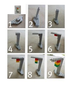 A little more complicated, photograph the building of a lego sculpture and use as instructions... love the 3-D and different perspectives in the photos.