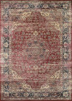 Zahara Persian Vase Vintage Inspired Area Rugs