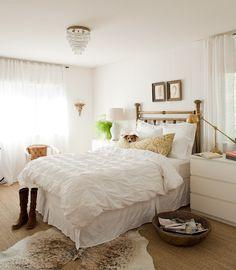 Neutral Bedroom Design, LOVE the brass bed Dream Bedroom, Home Bedroom, Bedroom Decor, Pretty Bedroom, Bedroom Ideas, Airy Bedroom, Serene Bedroom, Summer Bedroom, Bedroom Designs
