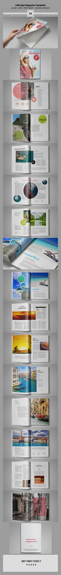 InDesign Magazine Template 30 Pages | Download: http://graphicriver.net/item/indesign-magazine-template-30-pages/10098528?ref=ksioks