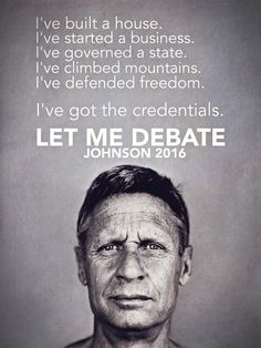 Let Gary Johnson Debate 2016                              …
