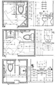 Commercial Ada Bathroom Layout - Commercial Ada Bathroom Layout, Ada Bathroom Layout Image Of Bathroom and Closet Handicap Toilet, Handicap Bathroom, Washroom, Disabled Bathroom, Plan Design, Layout Design, Design Ideas, Tile Layout, Design Inspiration