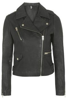 TALL Washed Leather Jacket