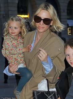 Just kidding! Australian actress Cate Blanchett (pictured) stepped out in Paris with her son and daughter on Saturday as she rugged up in a beige trenchcoat