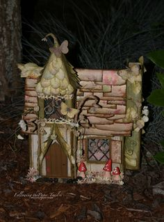 Fairy House with mini-album inside, Laura Denison/Following the Paper Trail