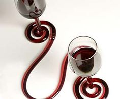Interconnected Wine Glasses