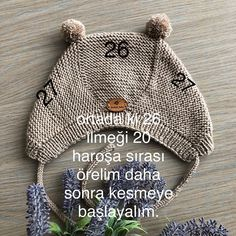 Good evening, a happy day I wish to go out Greetings . ı I tried to explain t. Good evening, a happy day I wish to go out Greetings . ı I tried to explain the construction of the hat and Baby Hats Knitting, Knitting For Kids, Baby Knitting Patterns, Crochet For Kids, Knitting Socks, Knitting Designs, Hand Knitting, Knitted Hats, Crochet Hats