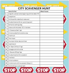 City Scavenger Hunt Game - Free Printable #FamilyFun