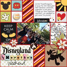 Digital scrapbooking items on this layout available ONLY through Oct 29, 2015. Click for more details. Disney;