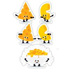 """""""Character Fusion - Mac N Cheese"""" Stickers by SevenHundred 