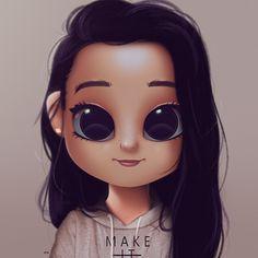 Cartoon, Portrait, Digital Art, Digital Drawing, Digital Painting, Character Design, Drawing, Big Eyes, Cute, Illustration, Art, Girl,, Make it Happen