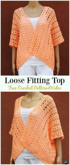 Crochet Loose Fitting Top Shrug Jacket Free Pattern - #Crochet Women Summer Jacket #Cardigan Free Patterns