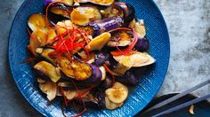 Kylie Kwong's stir-fried eggplant with chilli and ginger Recipe   Good Food