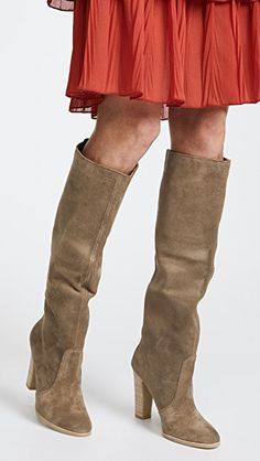 bd1edc56a2a Celine Knee High Stacked Heel Boots