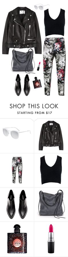 """Flora"" by hilagalam ❤ liked on Polyvore featuring Smoke x Mirrors, Acne Studios, Abercrombie & Fitch, Sans Souci, Ina Kent, Yves Saint Laurent and MAC Cosmetics"