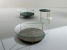 Marble meets Metal Round marble coffee table ECHO
