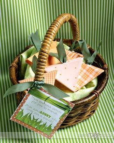 """Super cute, """"Some Bunny Loves You"""" basket for Easter!"""