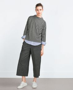 CROPPED TROUSERS - View all - Trousers - WOMAN | ZARA United States
