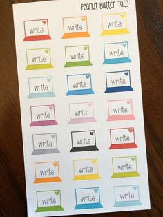 Write Computer Planner Stickers by PeanutButterTaco on Etsy