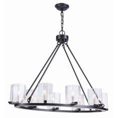 Lowest price online on all Elegant Lighting Monterey 8 Light Chandelier in Bronze - 1524G38BZ