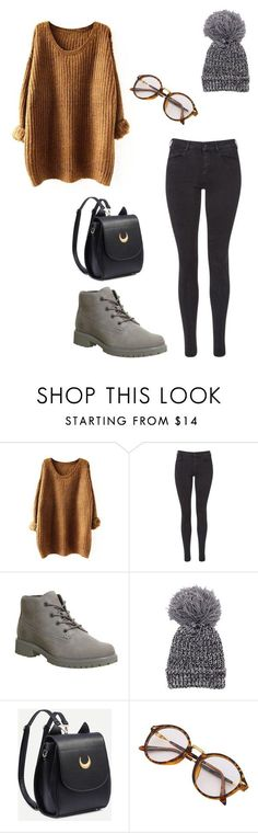 """#BasicFall"" by emma-thacker ❤ liked on Polyvore featuring Maison Scotch and Timberland"