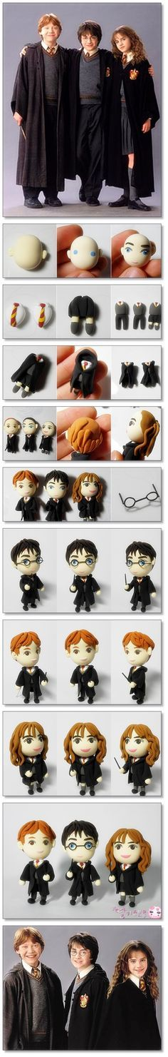Clay Art_harry potter So~ cute!!! ^___^ This clay is delicate.