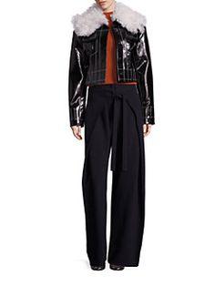 Proenza Schouler - Faux Fur & Faux Leather Jacket
