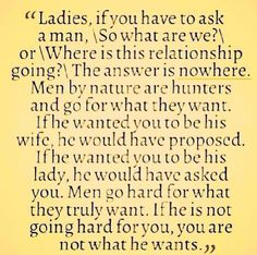 Quote to live by, ladies