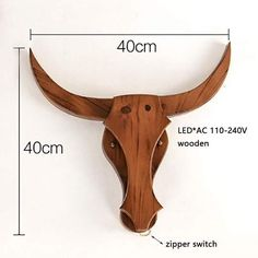 Modern Loft Retro Natural Wood Cow Animal Style Wall Lamps LED Sconce Wall Lights For Living Room bedroom bathroom bar Wall Lamps, Wall Sconces, Wall Lights, Vintage Lighting, Modern Lighting, Applique, Online Lighting Stores, Modern Sconces, Modern Lamps