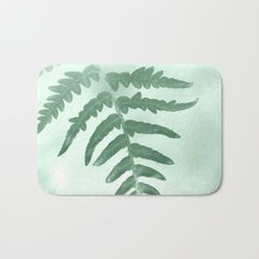 Fern Bath Mat by ARTbyJWP From Society6 #mat #bathmat #bathroom #botanical #green  ---   The perfect bath mats: fuzzy, foamy and finely enhanced with brilliant art. With a soft, quick-dry microfiber surface, memory foam cushion and skid-proof backing, our shower mats are a cut above your typical rug. Keep them clean with a gentle machine wash (no bleach!) and make sure to hang dry.
