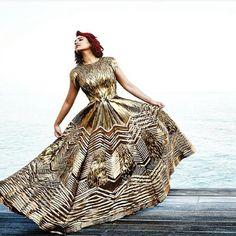 Inside the new @bazaarbridein - Sonakshi Sinha in a glam @amitaggarwalofficial gown #golden #goldgown #love #bazaarbride #sonakshisinha #indianbride #indianfashion #indiandesigner #bollywoodfashion #bollywoodstyle #editorial #chiffontalk