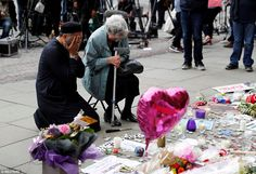 Renee Black and Imam Sadiq Patel shared a prayer in Albert Square, Manchester, in memory o...