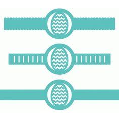 Silhouette Design Store - View Design #40088: 3 decorative bands w ribbon slots